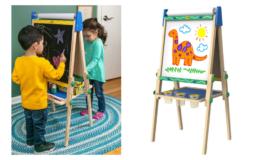 Amazon Prime Day | 48% Off Crayola Kids Wooden Easel, Dry Erase Board & Chalkboard