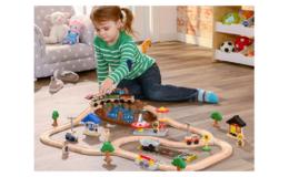 Amazon Prime Day | 64% Off KidKraft Bucket Top Mountain Train Set with 61 Pieces