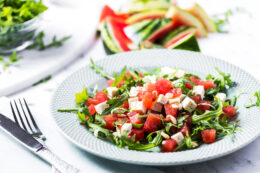 Arugula Watermelon Salad with Feta Cheese Recipe