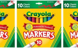 Crayola Markers, 10ct Just $0.99 at Walgreens!