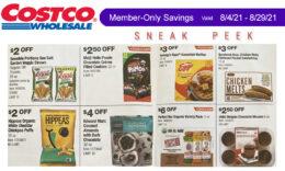 Costco Sneak Peek - Members Only Savings 8/4 - 8/29/21