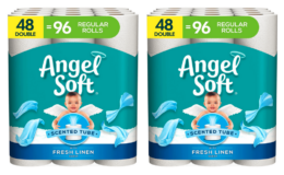 Extra 20% off Coupon! Angel Soft Toilet Paper with Fresh Linen Scent, 48 Double Rolls= 96 Regular Rolls {Amazon}