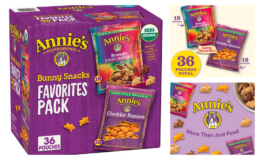 Extra 20% off Coupon! Annie's Organic, Snack Variety Pack, Cheddar Bunnies and Bunny Grahams, 1 oz, 36 ct {Amazon}