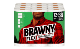 Hot Coupon! Brawny Flex Paper Towels, 12 Triple Rolls = 36 Regular Rolls, Tear-A-Square {Amazon}