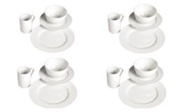 Tabletops Unlimited Soleil Round Rim Porcelain 16-pc. Dinnerware Set $19.99 (Reg.$50) at JCPenney!