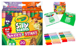 Crayola Silly Scents Sweet and Stinky Art Markers for Kids, Beginner 20 Count, only $4.50 (reg. $7.77) at Walmart
