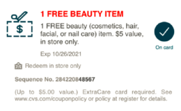 CVS SHOPPERS: Text Coupon for FREE Beauty Item at CVS! {Up to $5.00}