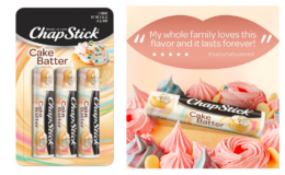 Extra 25% off! ChapStick Cake Batter Limited Edition Flavored Lip Balm (Pack of 3) {Amazon}