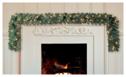 Holiday Time Pre-Lit Napa Artificial Garland, Clear Incandescent Lights, 9 ft for $10.98