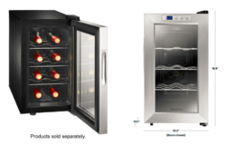 Insignia™ 8-Bottle Wine Cooler in Stainless steel $114.99 (Reg. $149.99) + Free Shipping!