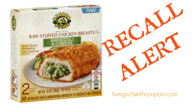Barber Foods Recall 2015 Possible Salmonella Contamination In