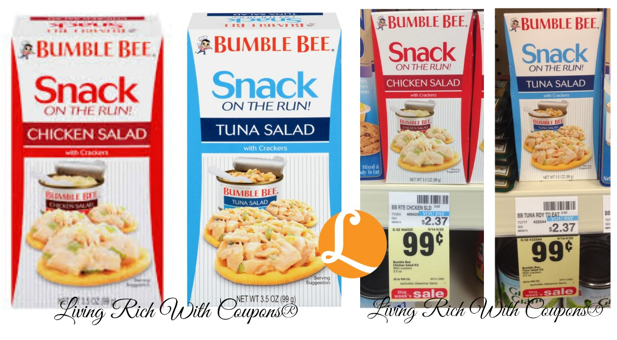 Bumble Bee Coupon - Bumble Bee Snack On The Run! Just $0 67