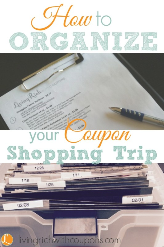 How to organize your coupon shopping trip