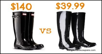 hunter boots counterfeit