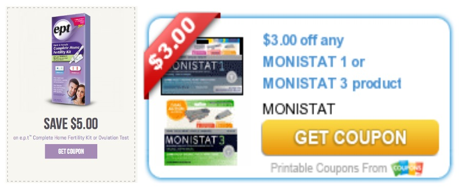 photograph about Monistat Printable Coupons known as Ceremony Assist Discount codes - No cost e.p.t. Dwelling Fertility Package + Added at