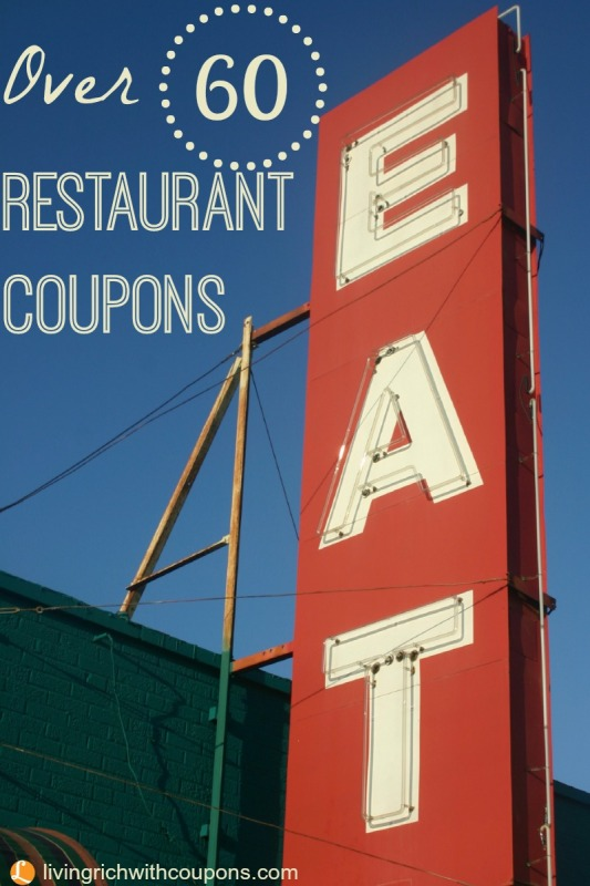 Restaurant Coupons | Living Rich With Coupons