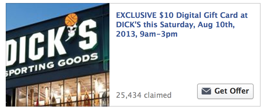 FREE $10 Dick's Sporting Goods Gift Card - Limited Quantities ...