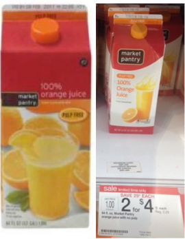 Market Pantry Orange Juice Deal Only 0 25 At Target