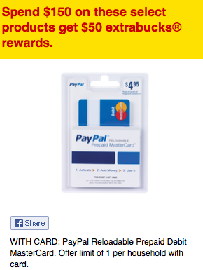 paypal mastercard ecb deal at cvs - Buy Prepaid Card