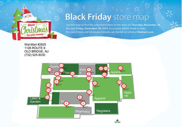 Walmart Black Friday 2014 Map Walmart Black Friday   Top 10 Walmart Black Friday Deals + Map