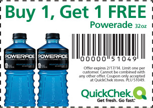 Quick Chek Coupon 2 17 14 Bogo Powerade Living Rich