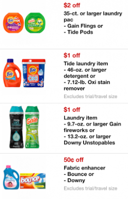 Target Mobile Coupons February 2014 - Tide, Gain, Downy & More
