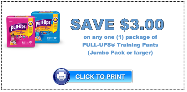photo about Printable Coupon $3 Off Pull Ups known as Pull-Ups Coupon - $3.00 off any (1) Pull-Ups Performing exercises Trousers