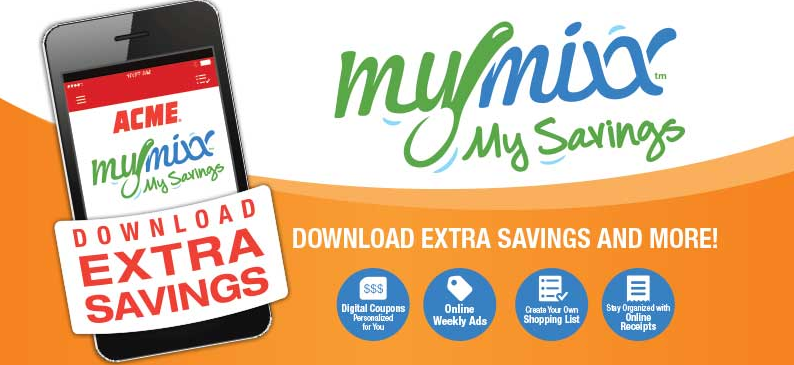 Acme Mymixx Digital Coupons And Digital Receipts Living