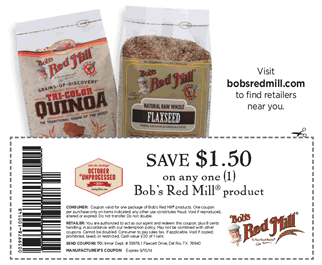 picture regarding Bobs Printable Coupons referred to as Bobs Pink Mill Coupon - $1.50 off any (1) Bobs Pink Mill
