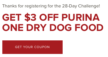 picture regarding Purina One Printable Coupon titled Purina Coupon - Purina One particular SmartBlend Doggy Meals Simply just $0.99 at