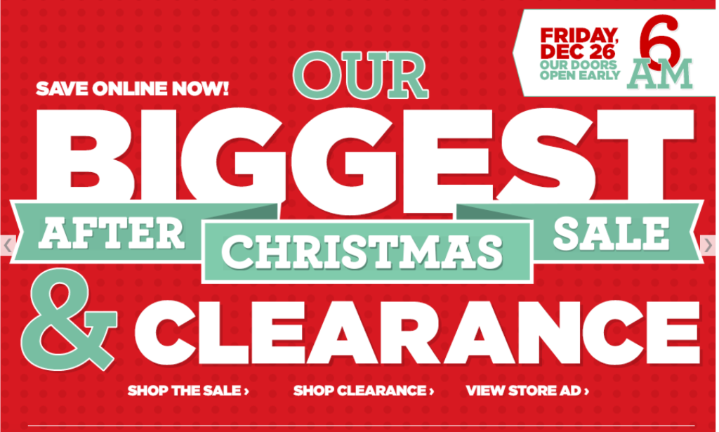 after christmas sale 2014 - Kmart After Christmas Sale