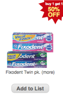 graphic relating to Fixodent Coupons Printable named Fixodent Coupon - $1/1 Fixodent Coupon -Dwelling Prosperous With