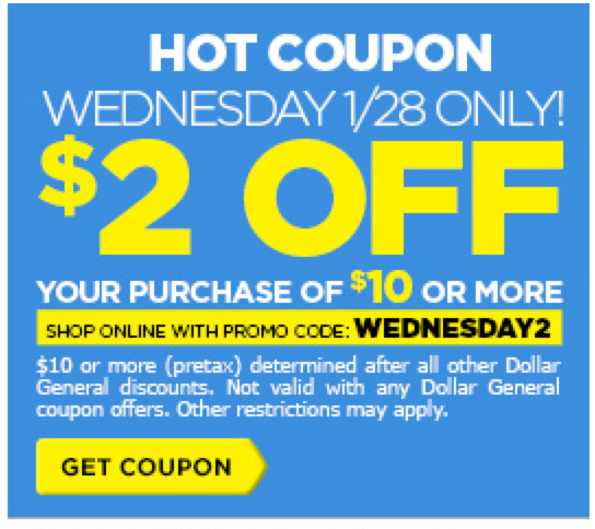 New 2 Off 10 Dollar General Coupon Valid 1 28 Only Living Rich With Coupons 174 Living Rich