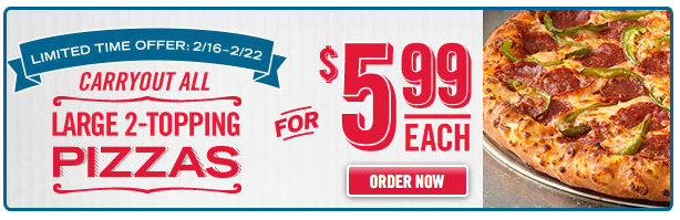 2 for 6 dominos voucher
