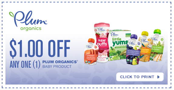 image relating to Organic Printable Coupons titled Plum Organics Coupon - Free of charge Pouches at Finish ShopLiving