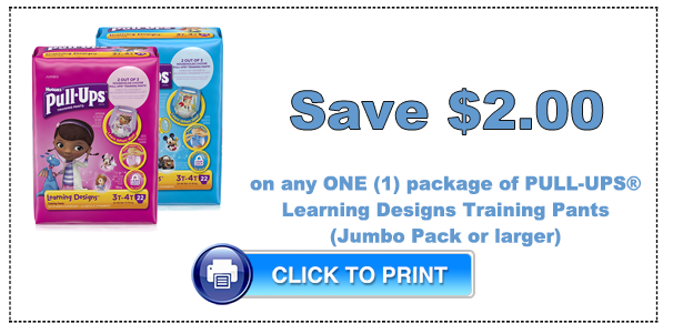 graphic relating to Pull Ups Printable Coupons called Huggies Pull-Ups Jumbo Packs Simply just $4.99 at Focus!Residing