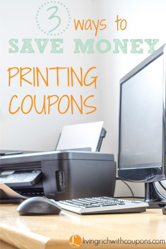Ways to Save Money Printing coupons