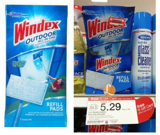 Beautiful Better Than FREE Windex Outdoor Glass Cleaning Pads At Target