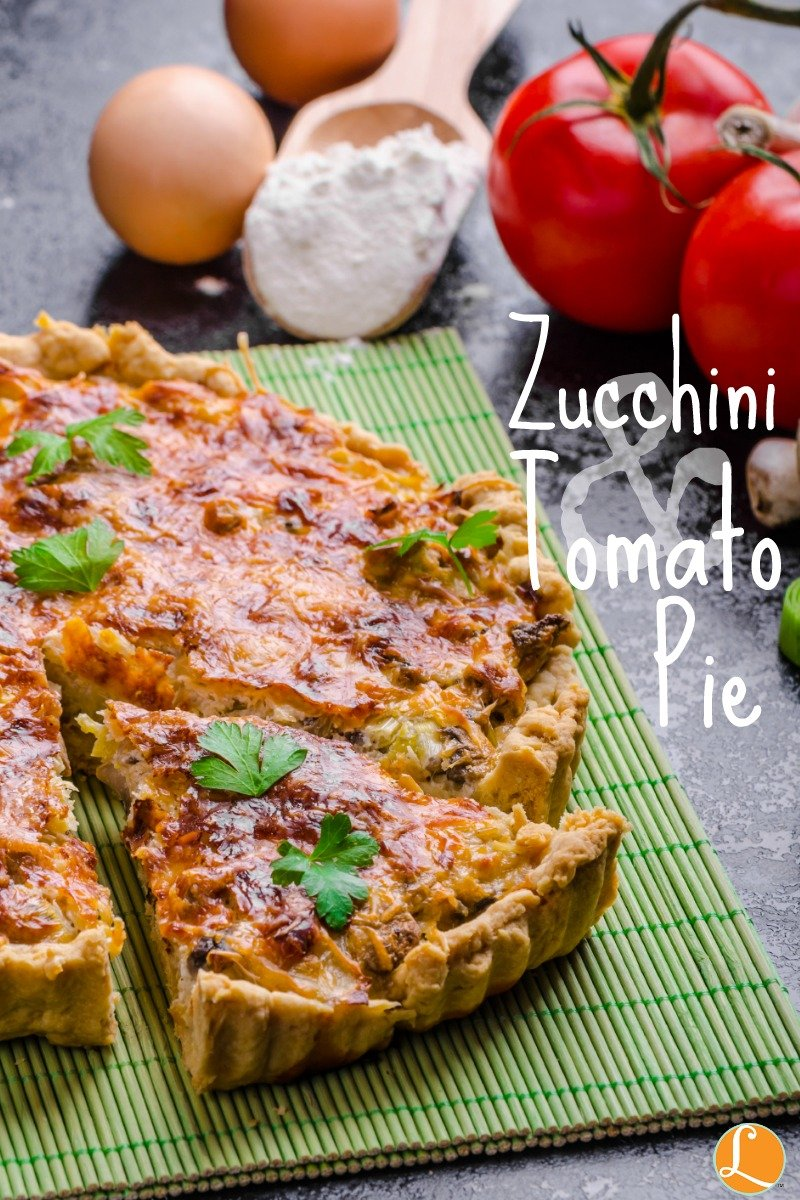 Zucchini & tomato Pie
