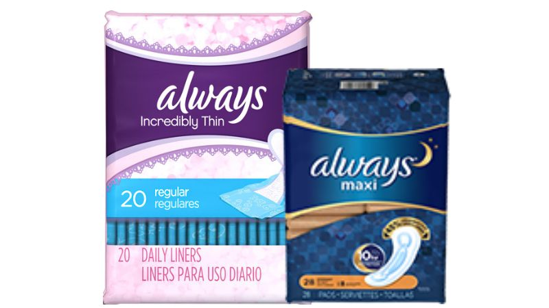 2 New Always Pads & Liners Coupons - Save $1 + Lots of Deals