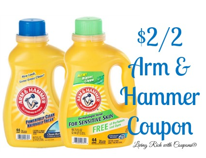 Arm Amp Hammer Laundry Detergent Coupon 2 00 Off 2