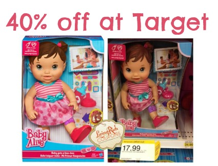 baby alive doll target deal 40 off at target living rich with coupons. Black Bedroom Furniture Sets. Home Design Ideas