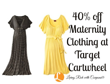 0409994dfd2 40% off Women s Maternity Clothing Target Cartwheel Offer – Today    Tomorrow Only!