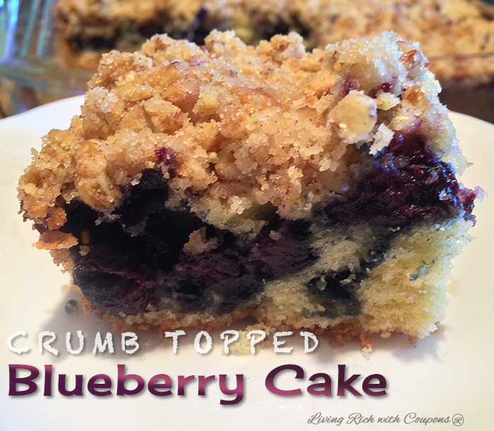 crumb topped blueberry cake