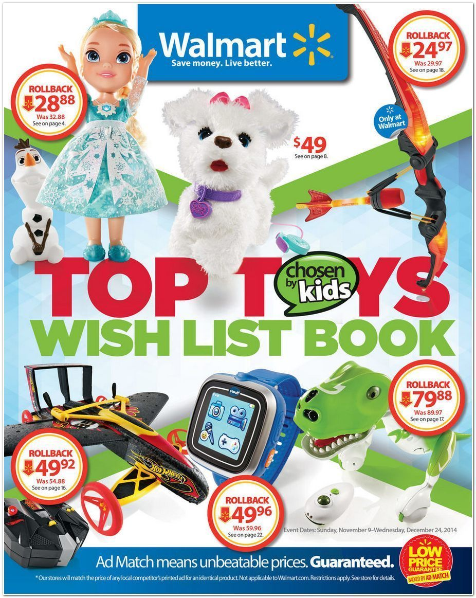 Walmart Toy Book Black Friday 2014