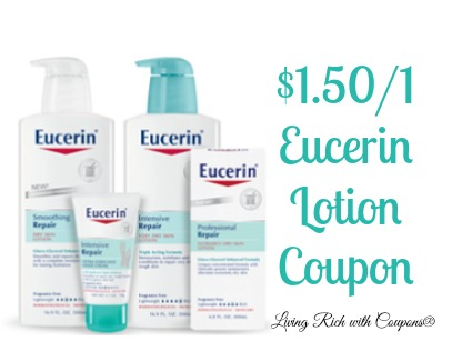 photograph relating to Eucerin Printable Coupon named Eucerin Coupon - $1.50 off any (1) Eucerin Human body Lotion or