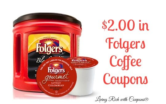 picture regarding K Cup Coupons Printable named Folgers Discount coupons - $2.00 inside of Folgers Espresso Discount coupons -Residing