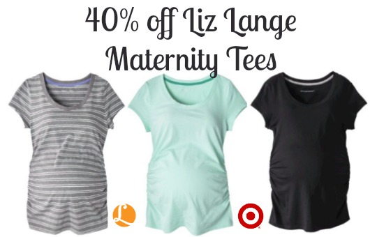 cbaafc089e7 Maternity Coupons - 40% off Liz Lange Essential Tees Target ...