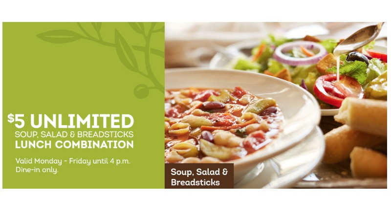 Olive Garden Has A Crazy New Breadstick Creation: $5 Unlimited Soup, Salad