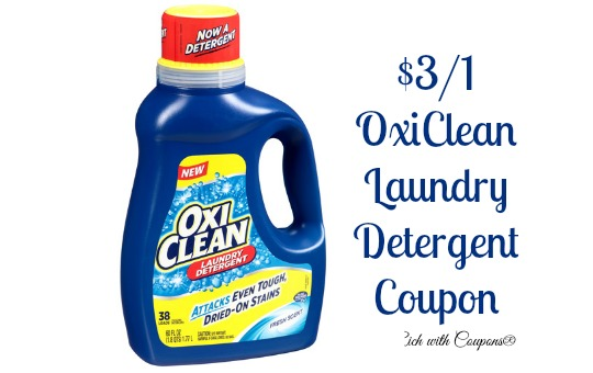 Laundry Detergent Coupon 3 00 Off Oxiclean Laundry